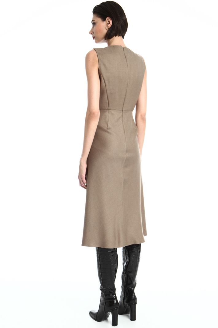 Camel and silk twill dress Intrend