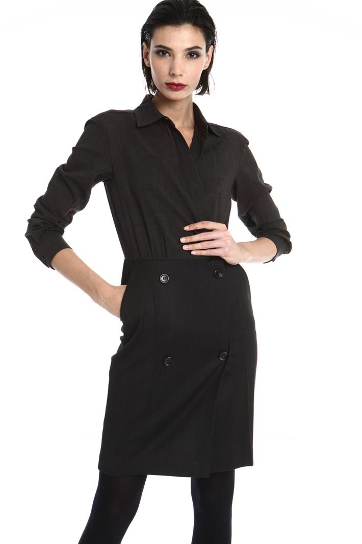 Wool wrap dress Intrend