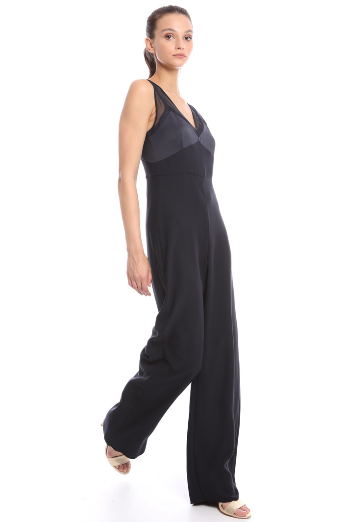 Tulle yoke jumpsuit Intrend