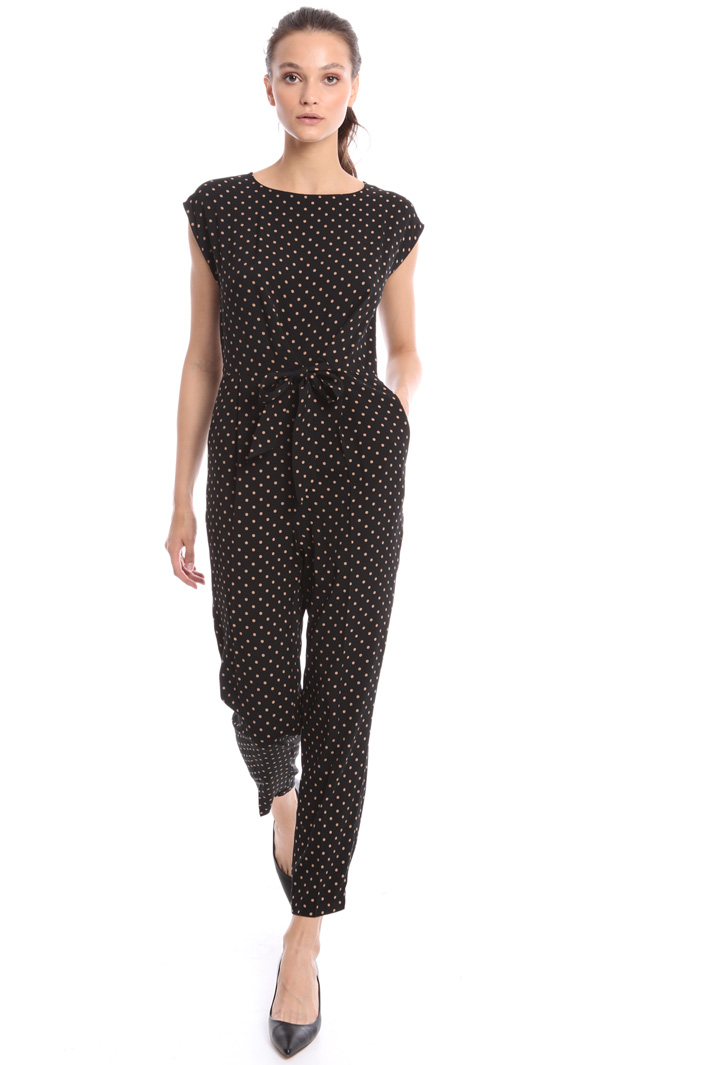 Polka dot sablé jumpsuit Intrend