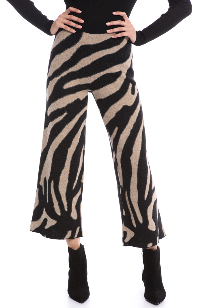 Animal print knit trousers Intrend