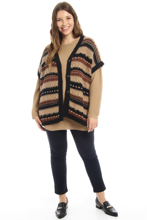 Wool and mohair cardigan  Intrend