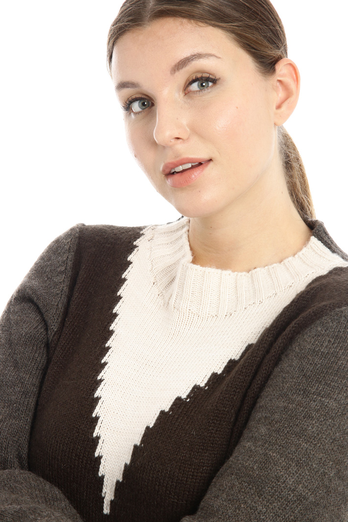 Inlay mohair sweater Intrend