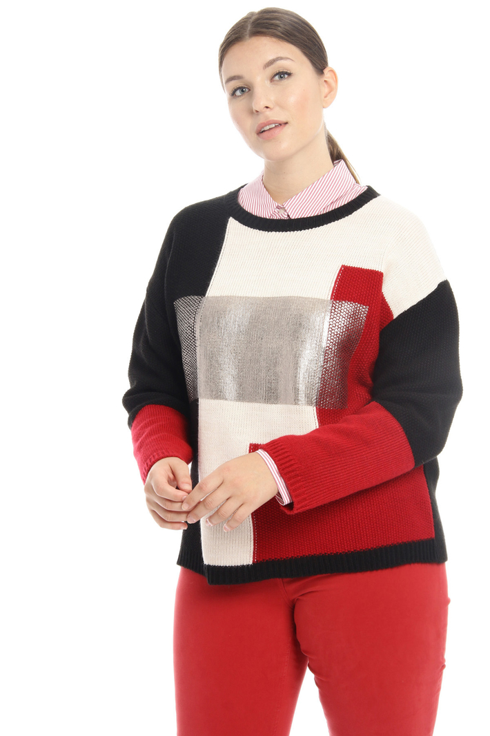 Inlay laminated sweater Intrend