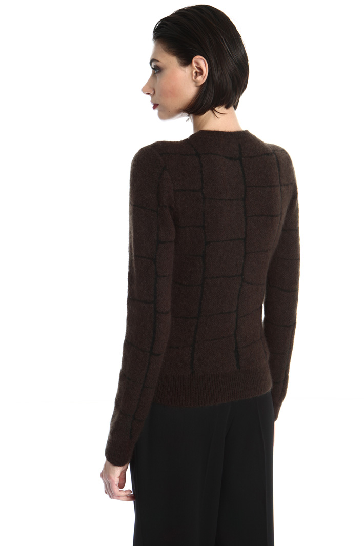 Croc print effect sweater Intrend