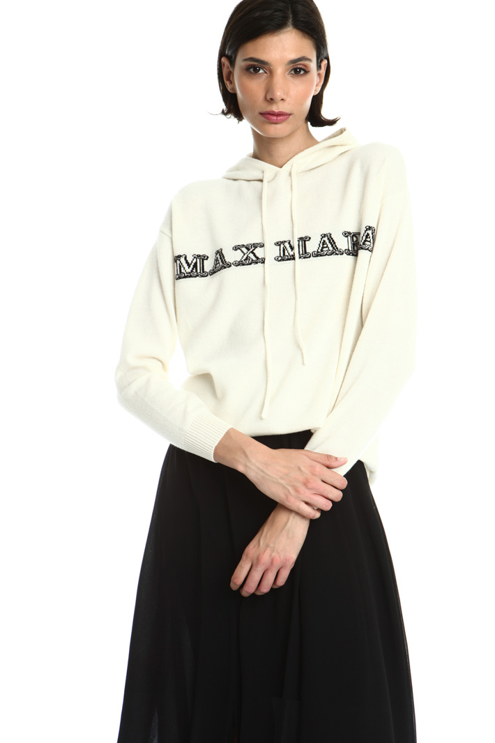 Hooded cashmere sweater Intrend