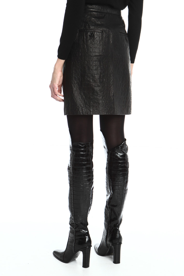 Nappa croc skirt Intrend