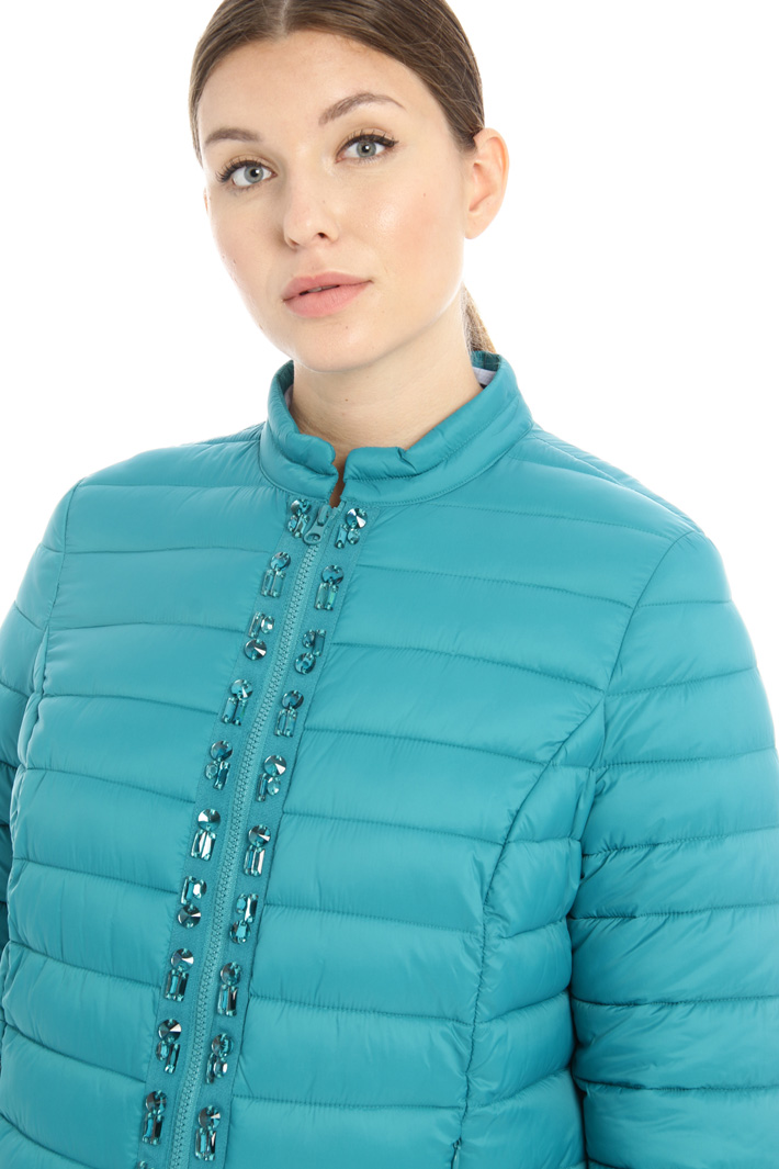 Rhinestone puffer jacket Intrend