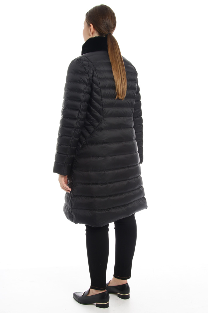 Fur trimmed neck down coat Intrend