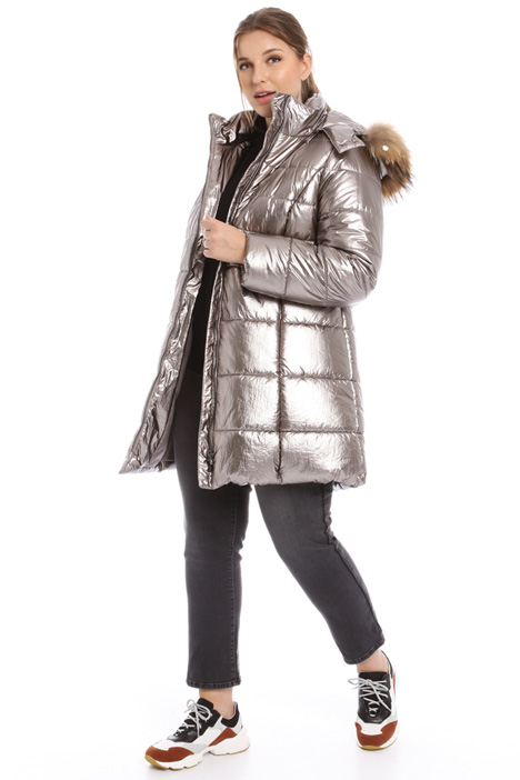 Laminated puffer coat Intrend