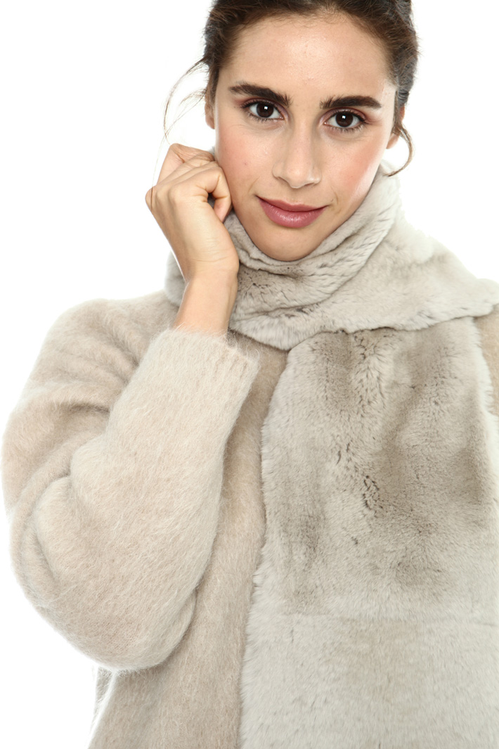 Cashmere and fur stole Intrend