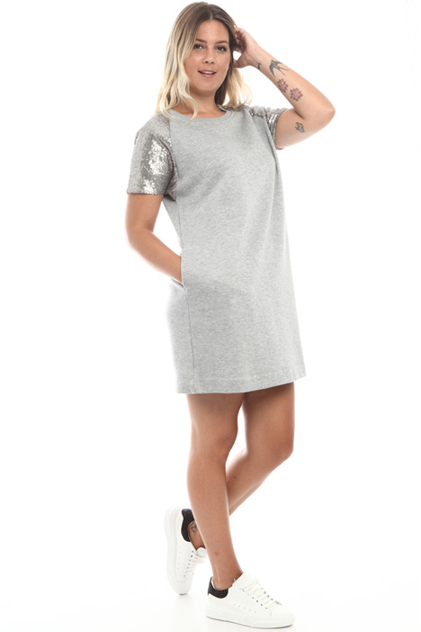 Sequin fleece dress Intrend