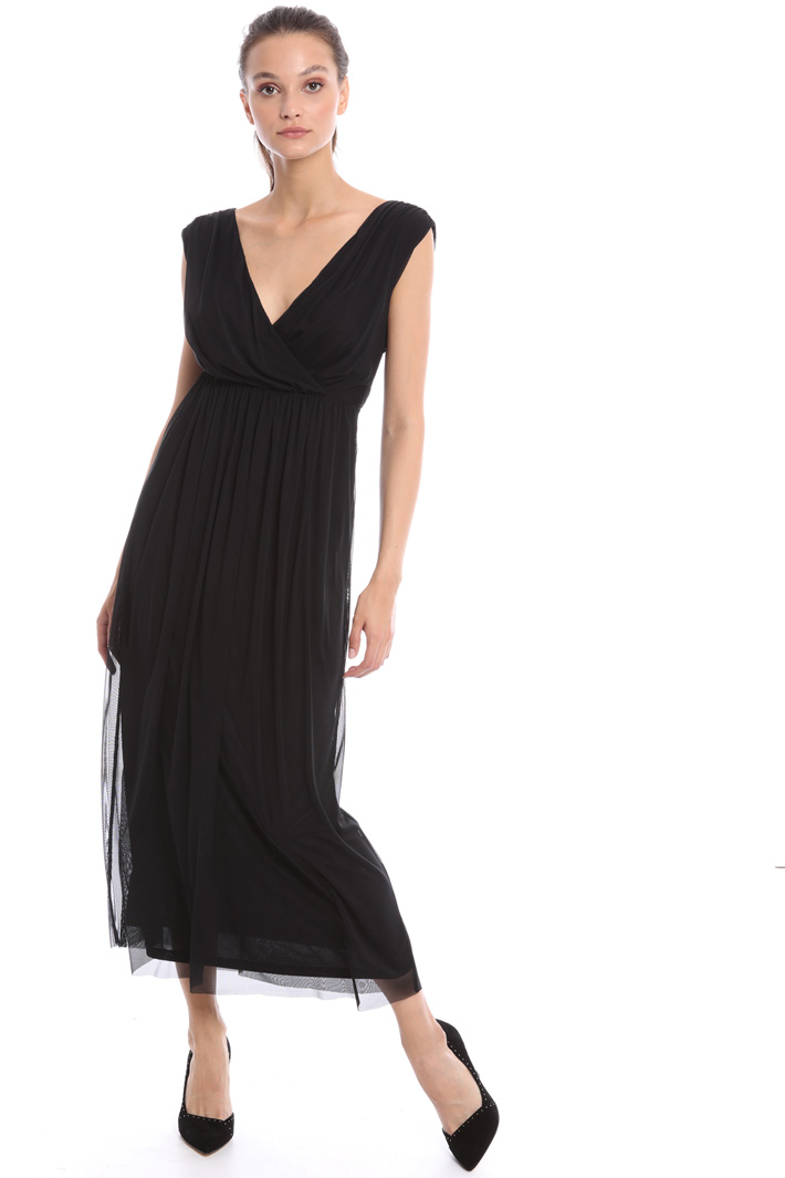 Draped tulle dress Intrend