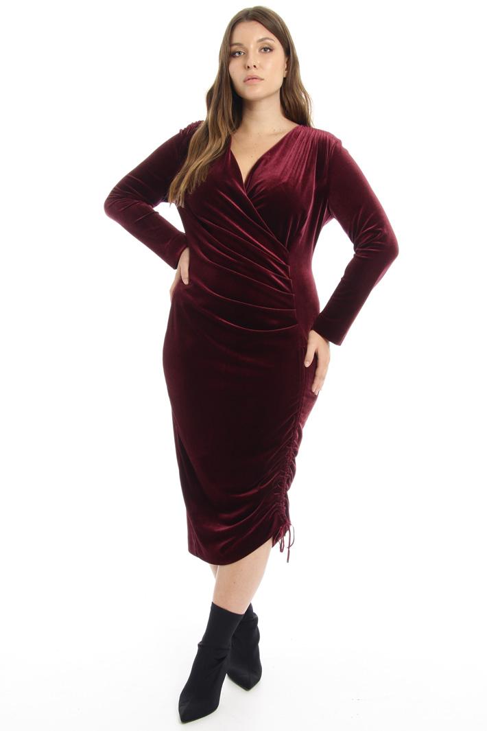 Draped velvet dress Intrend