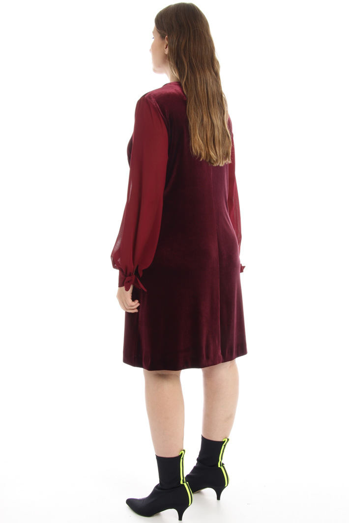 Velvet and georgette dress Intrend