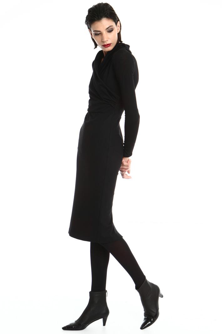 crossed V-neck sheath dress Intrend