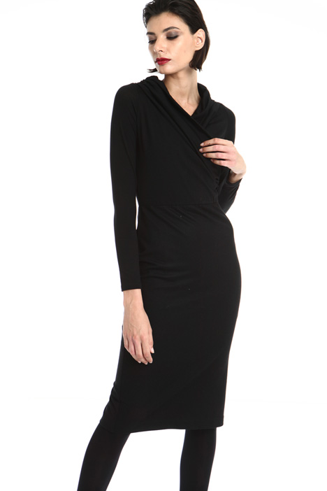 crossed V-neck sheath dress Intrend