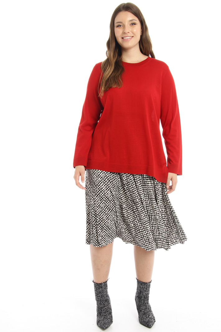 Printed jersey skirt Intrend