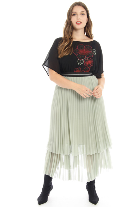 Pleated jersey skirt Intrend