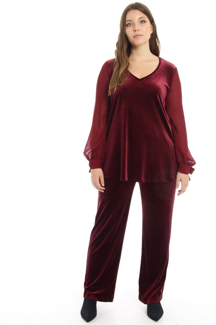 Velvet jersey trousers Intrend