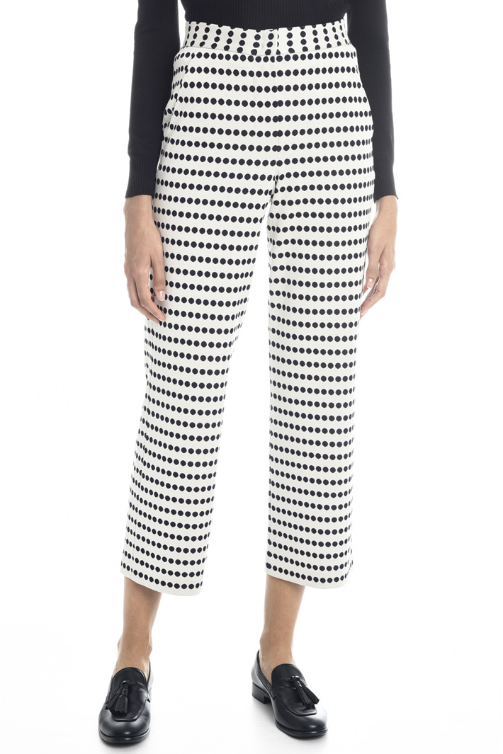Cropped jersey trousers Intrend