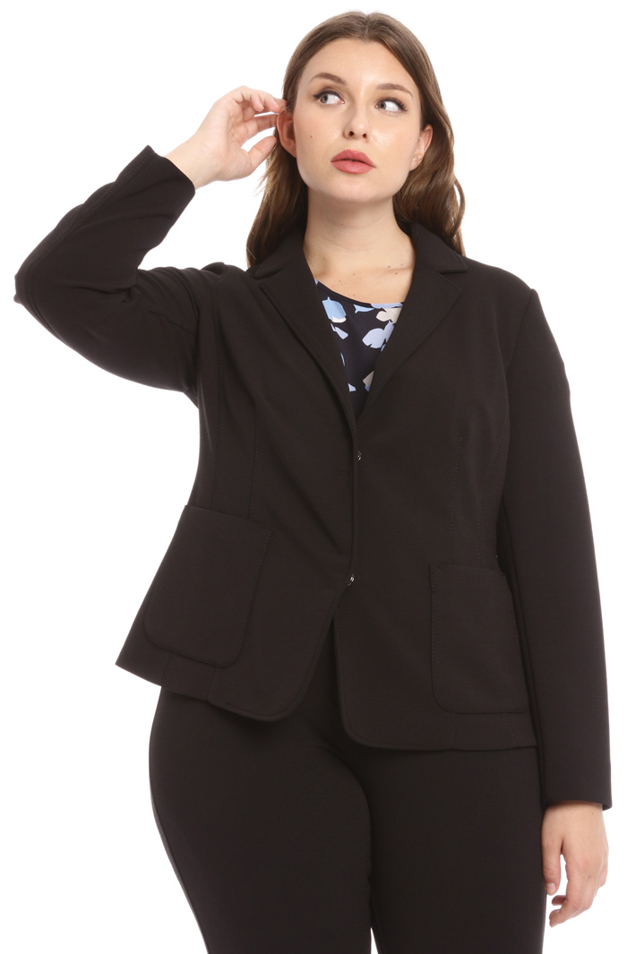 Crepe-effect fabric blazer Intrend