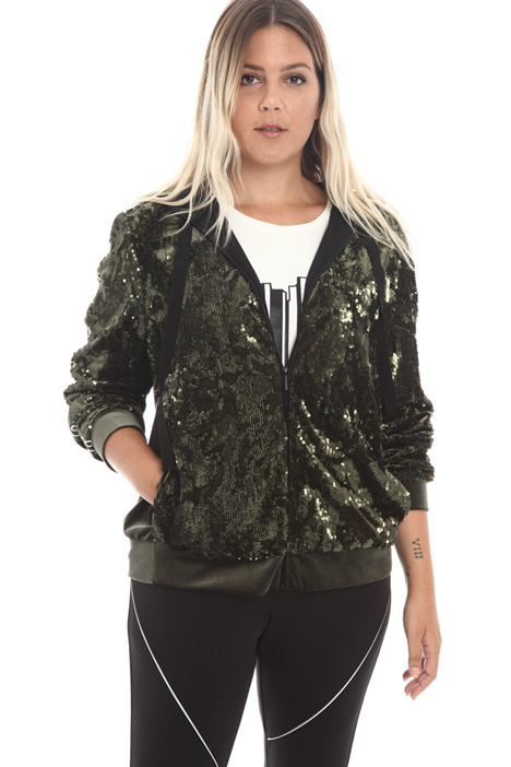 Velvet sequinned sweatshirt Intrend