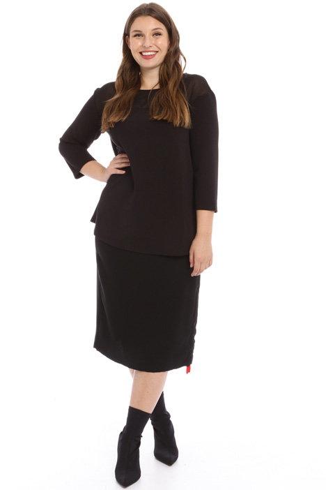 Jersey and georgette tunic Intrend