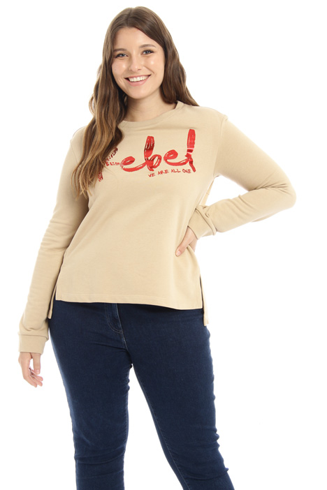 Cotton blend sweatshirt Intrend