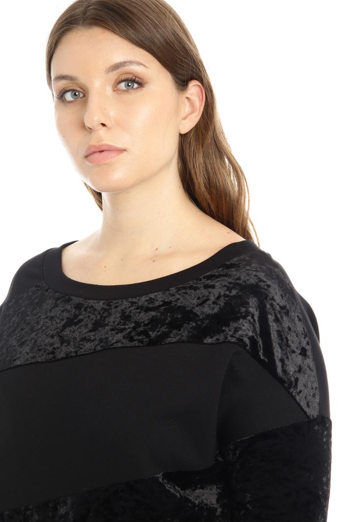 Velvet jersey sweatshirt Intrend