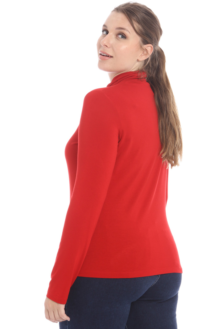 High neck jersey sweater Intrend