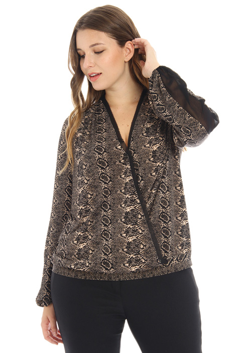 Georgette and jersey tunic Intrend