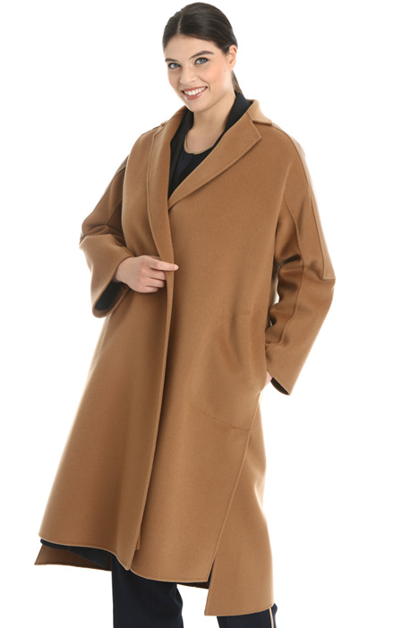 Nappa and wool coat  Intrend