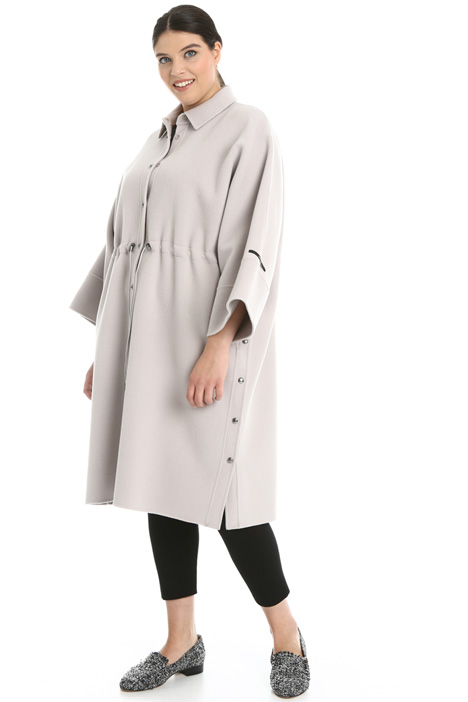 Drawstring wool coat Intrend