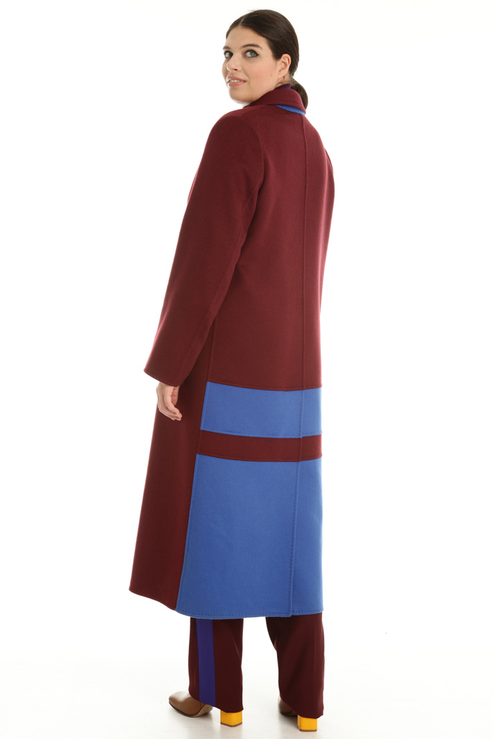 Coat with contrasting insert Intrend