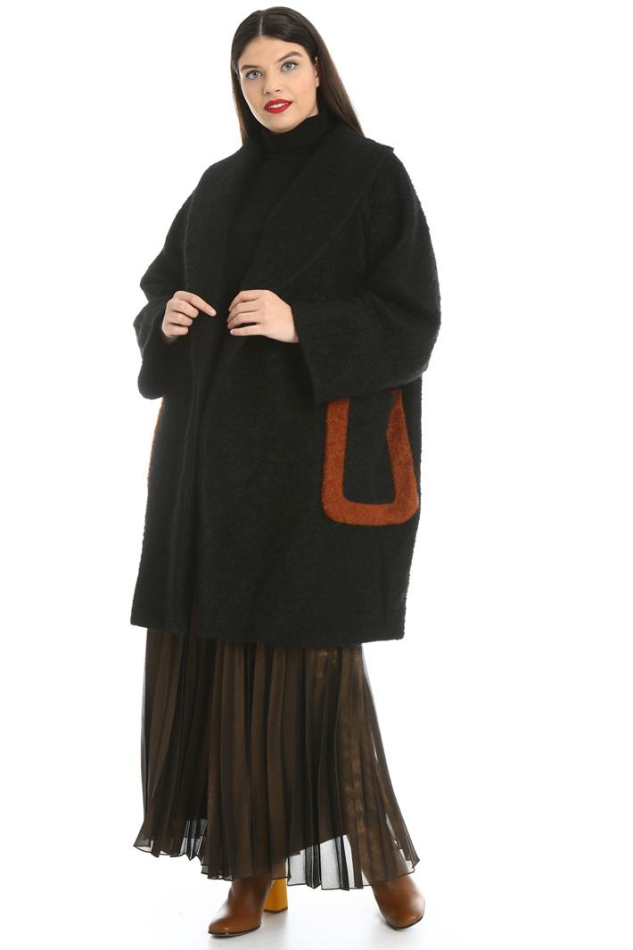 Cappotto in bouclé di lana Intrend