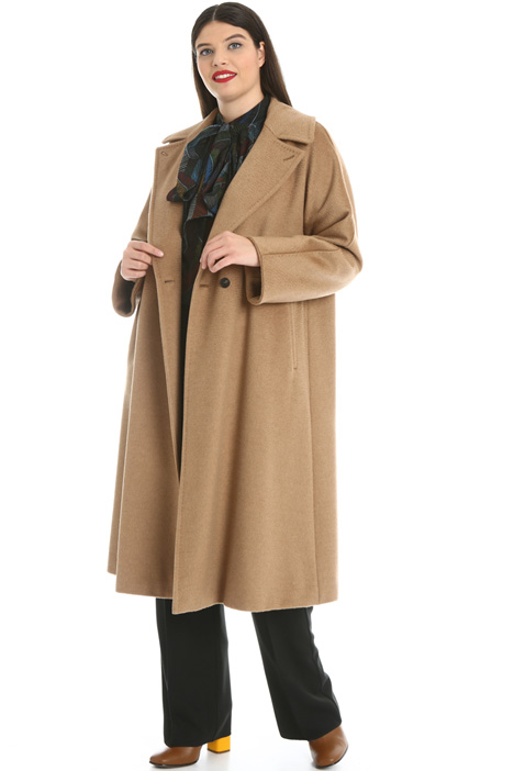 Camel broadcloth coat Intrend