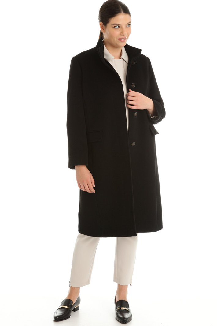 Coat in pure wool broadcloth  Intrend