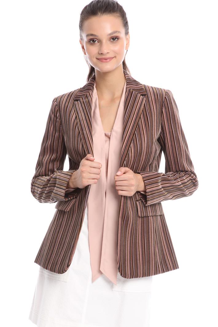 Striped velvet blazer Intrend
