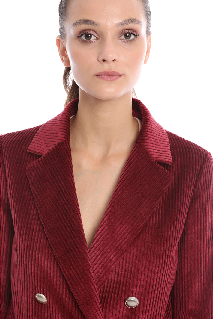 Double-breasted velvet blazer Intrend
