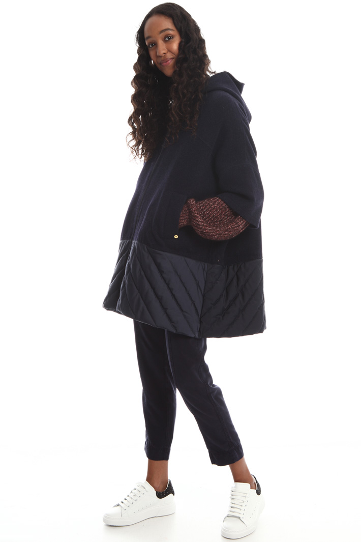 Tech and wool cape Intrend