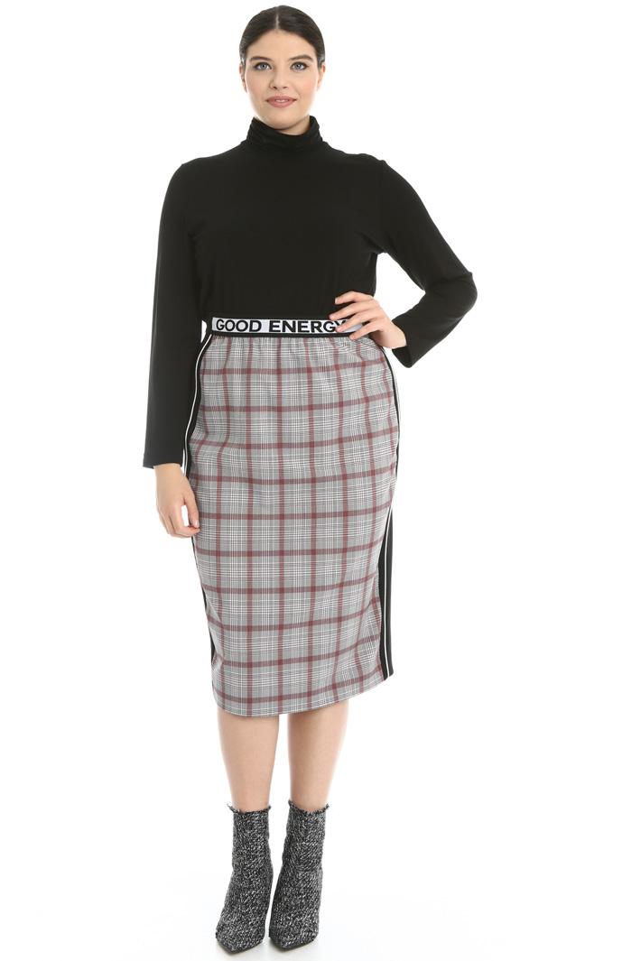 Dual material sheath skirt  Intrend