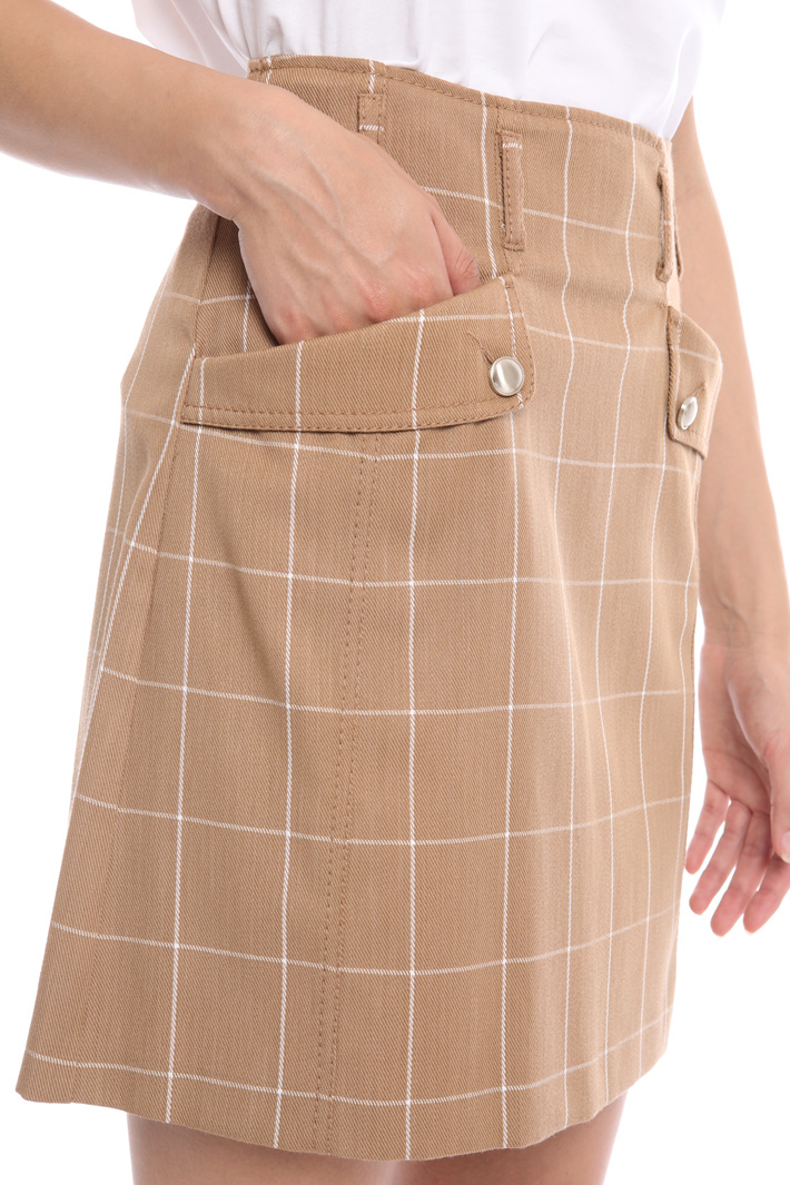 Jacquard cotton mini skirt Intrend