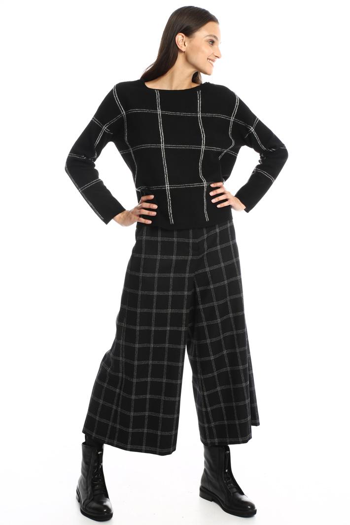 Crop trousers in wool Intrend