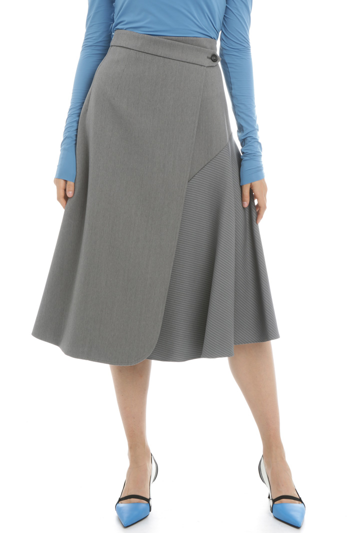 Cotton and wool skirt Intrend