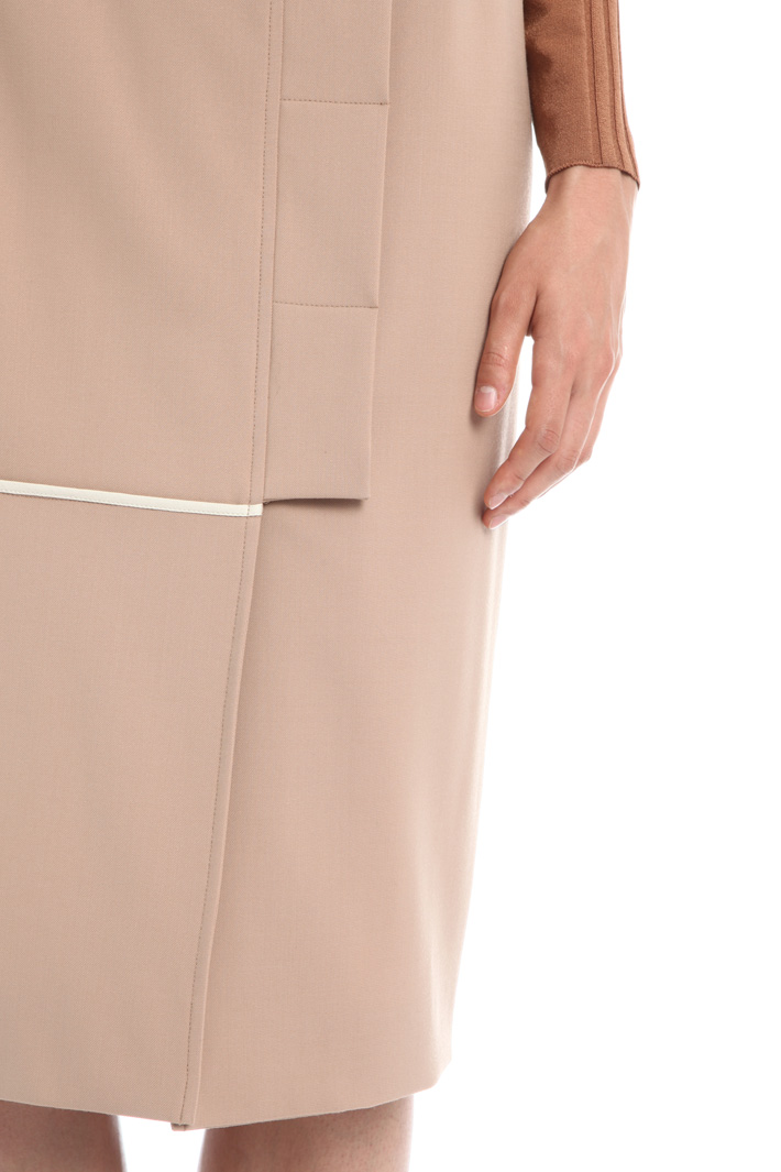 Wool gabardine skirt Intrend