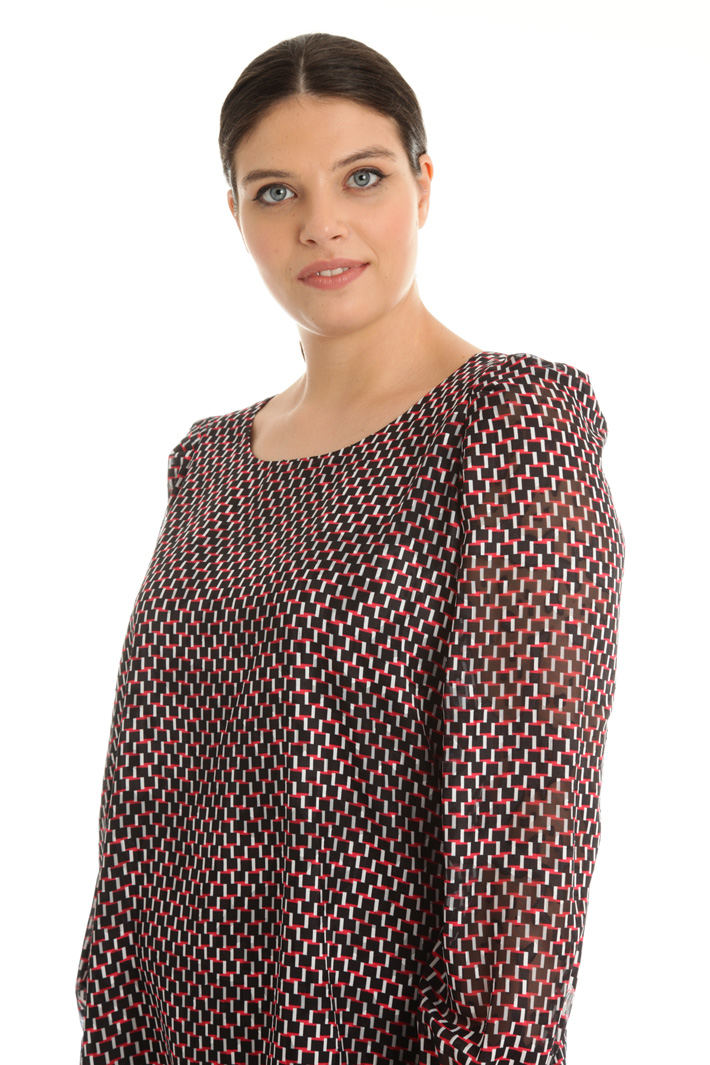 Georgette devoré blouse Intrend