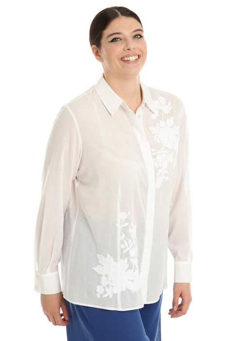 Muslin shirt with embroidery Intrend