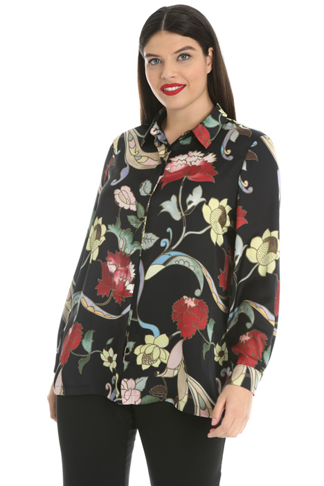 Printed satin shirt  Intrend