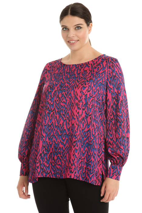 Printed satin tunic Intrend